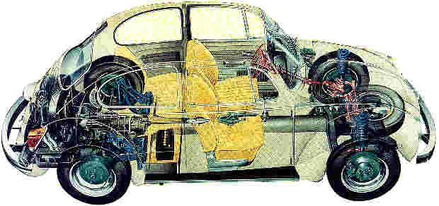 Durchsichtzeichnung VW 1303